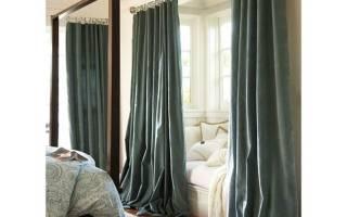 Какой длины должны быть шторы в комнате?
