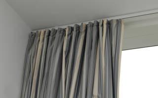 Как вешать шторы на потолочные карнизы