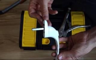 Как прикрутить ручку к пластиковому окну
