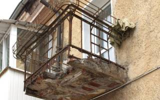 Укрепление балкона перед остеклением