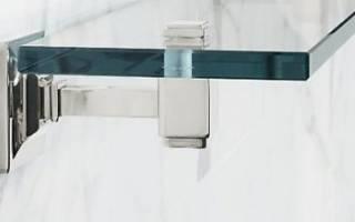 Как закрепить стеклянную полку на стене?