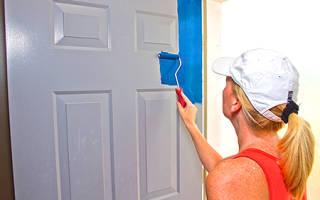 Можно ли красить двери из МДФ?