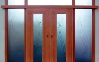 Как помыть матовое стекло на двери?