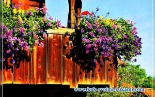 Балкон на даче своими руками