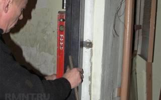 Как вставить железную дверь своими руками?