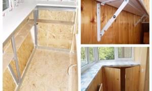 Как прикрепить подоконник на балконе