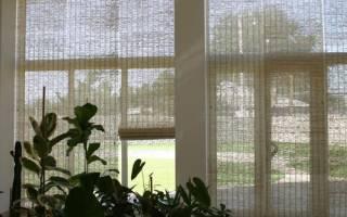 Соломенные жалюзи на окна