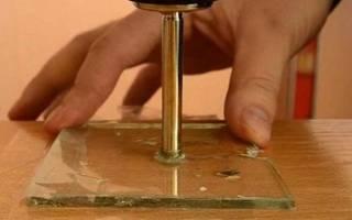 Как сверлить закаленное стекло?
