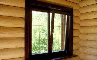Установка окон в деревянном доме без обсады