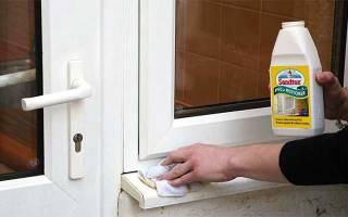 Как отбелить пластиковые окна