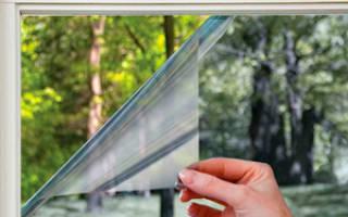 Как затонировать стекло на балконе