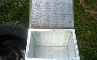 Термоконтейнер из пенопласта своими руками