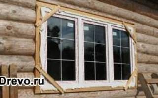 Установка стеклопакетов в деревянном доме своими руками