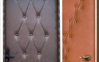 Как обшить металлическую дверь дермантином?
