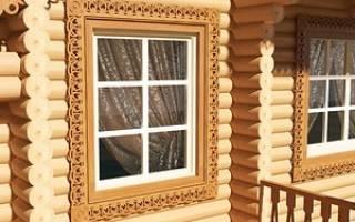 Красивые резные наличники на окна