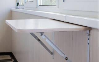 Как сделать стол на балконе своими руками