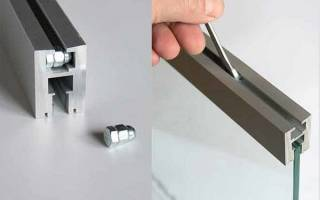 Как вставить стекло в алюминиевый профиль?