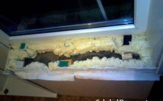 Демонтаж подоконника с пластикового окна