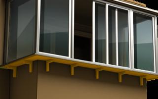 Остекление балконов с выносом подоконника